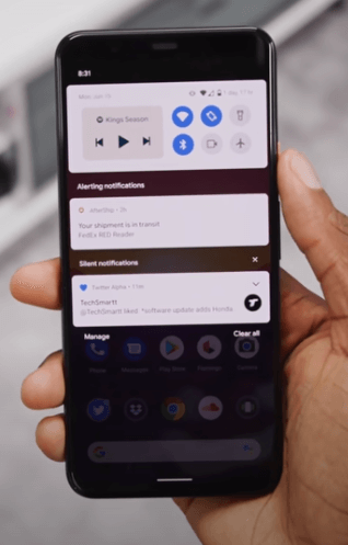 Android 11 Finally released Notification drawer